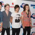"""Liam Payne, Niall Horan, Louis Tomlinson et Harry Styles (One Direction) - Arrivée des people à l'évènement """"Summertime Ball"""" de Capital FM à Londres, le 5 juin 2015"""