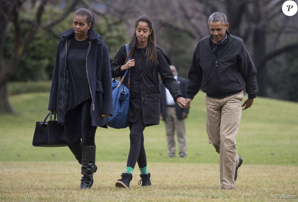 Michelle barack et malia obama la maison blanche for Ambassade de france washington visite maison blanche
