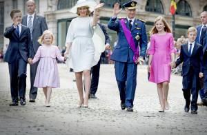Philippe et Mathilde de Belgique : Joie en famille pour la Fête nationale 2015