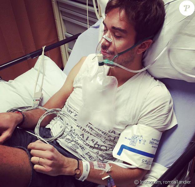 Romain, le mari d'Alex Goude a été hospitalisé le 26 juillet 2015.