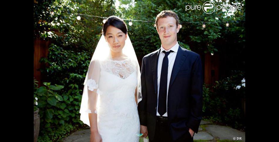 Mariage de Mark Zuckerberg avec Priscilla Chan en mai 2012 à Palo Alto