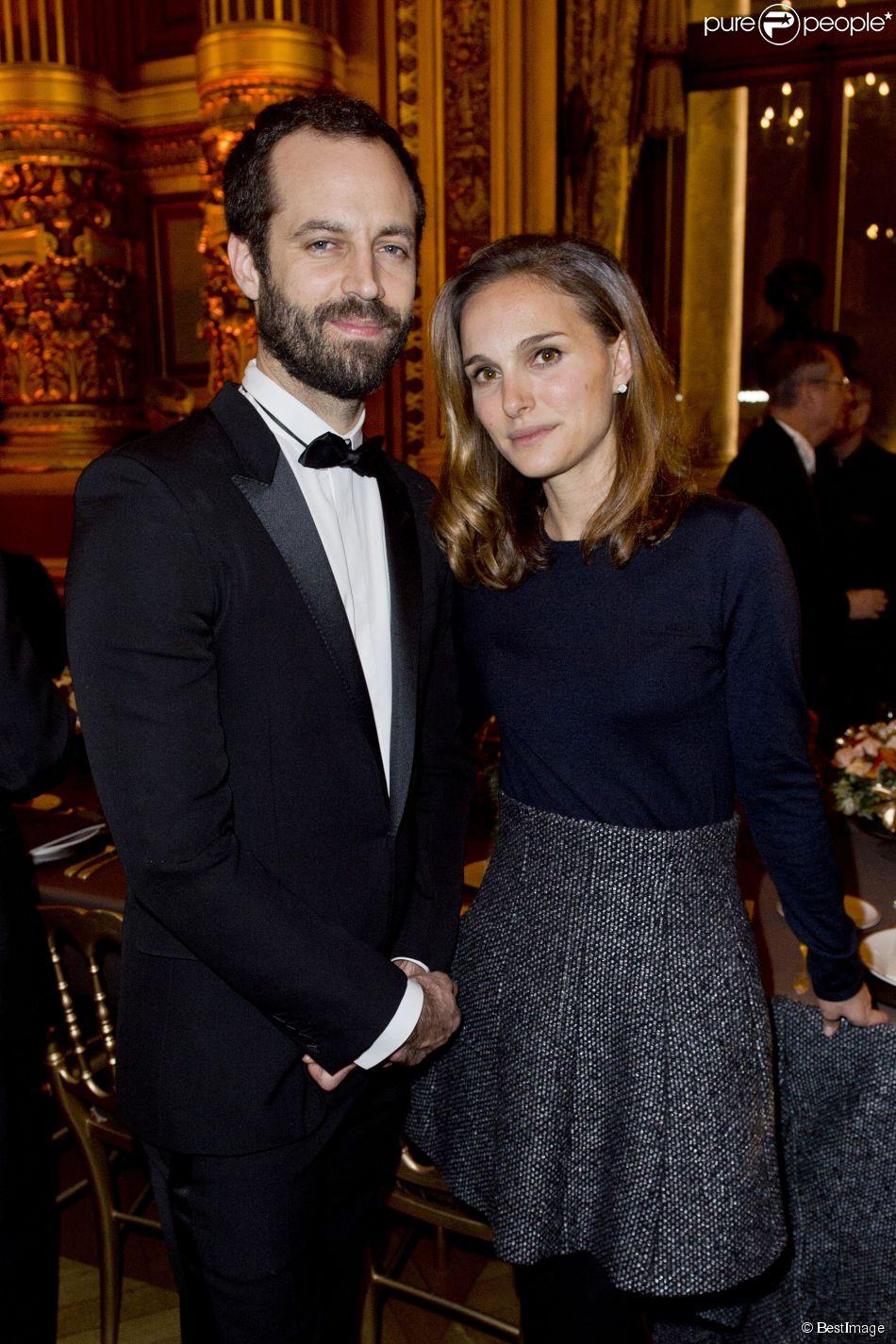 Natalie Portman et son mari Benjamin Millepied, à l'Opéra ...