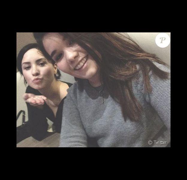 Demi Lovato et Madison sur Twitter le 12 janvier 2015