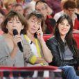 """Exclu : Jane Birkin et ses trois filles à l'enregitrement de """"Vivement Dimanche"""", en janvier 2013."""