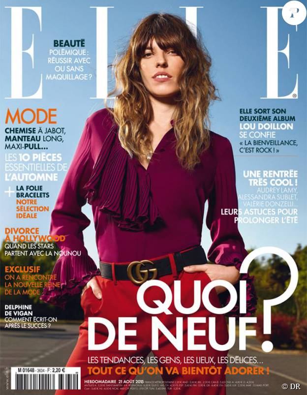 Le magazine Elle du 21 août 2015 a mis en couverture Lou Doillon