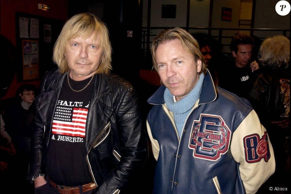 Renaud et son frère Thierry Séchan le 17 février 2003