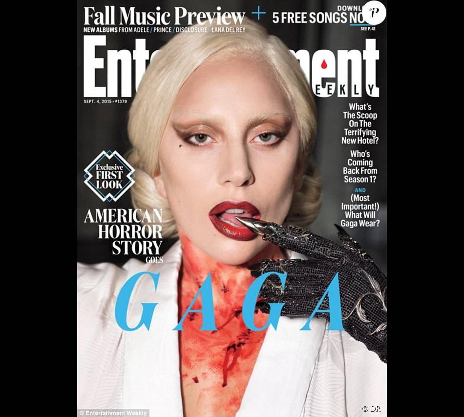 Lady Gaga en couverture du magazine  Entertainment Weekly .