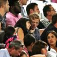 Exclusif - La danseuse Candice Pascal et son compagnon, le footballeur Clément Chantôme, assistent en tribune au match des Girondins de Bordeaux contre Kairat Almaty, le 20 août 2015 à Bordeaux.