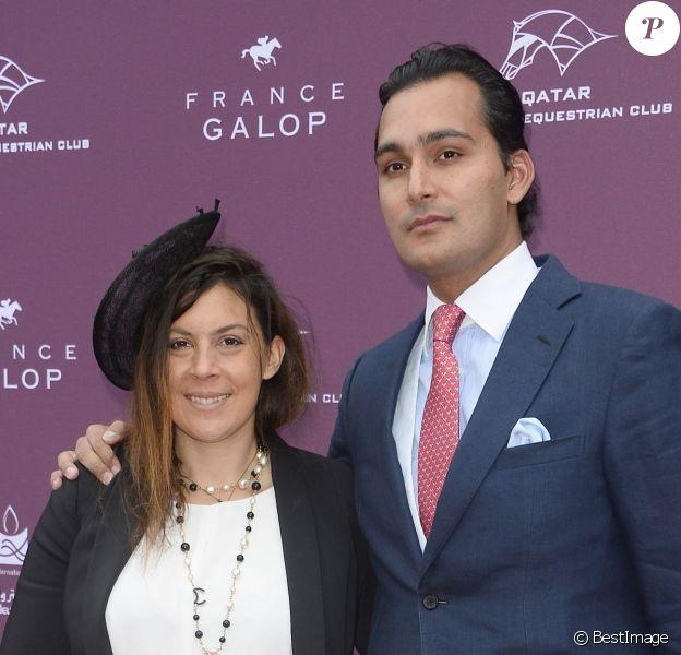 Marion Bartoli et son compagnon lors du Qatar Prix de l'Arc de Triomphe à l'hippodrome de Longchamp à Paris, le 5 octobre 2014