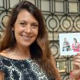 Marion Bartoli défiait ses fans pour l'association ELA à la boutique Maty, place de l'Opéra à Paris, le 20 septembre 2014