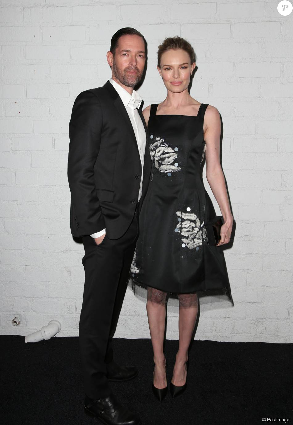 Kate Bosworth et son mari Michael Polish - People au lancement du nouveau téléphone Samsung Galaxy S6 à Los Angeles. Le 2 avril 2015
