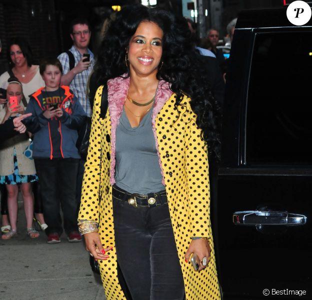 """Kelis - People à leur arrivée dans les studios de l'émission """"The Late Show with David Letterman"""" à New York. Le 22 avril 2014"""