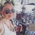 Haylie Duff lors d'un déjeuner / photo postée sur le compte Instagram de la chanteuse américaine.