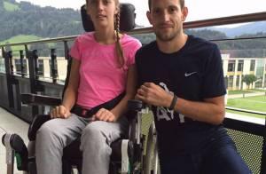 Renaud Lavillenie ému face à Kira Grünberg, paraplégique après son accident