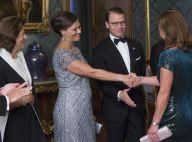 Victoria de Suède, enceinte : De premières rondeurs visibles, en robe de gala
