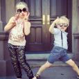 Gideon et Harpes les jumeaux de Neil Patrick Harris / photo postée sur Instagram.