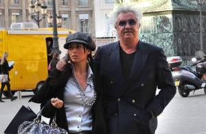 REPORTAGE PHOTOS : Flavio Briatore et sa superbe épouse : deux amoureux à Paris !