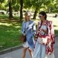 Beatrice Borromeo et sa belle-soeur Marta Ferri à Milan le 25 septembre 2015, lors de la Fashion Week.