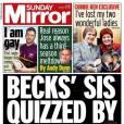 Keegan Hirst en couverture du journal The Sunday Mirror.