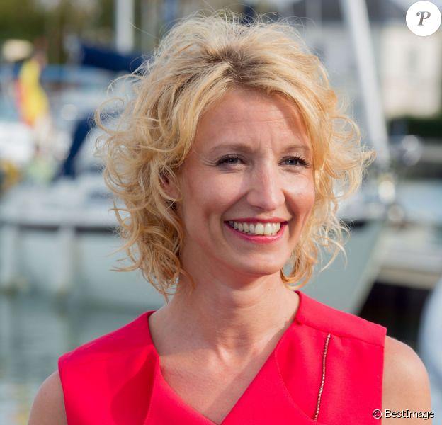 Alexandra Lamy, lors du 17e Festival de fiction TV de La Rochelle, le 11 septembre 2015.