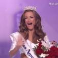 Betty Cantrell, couronnée Miss America 2016, à Atlantic City le 13 septembre 2015.