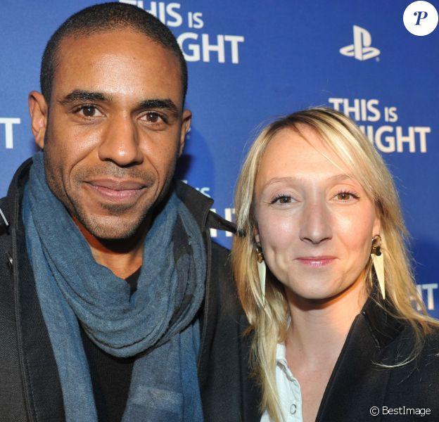 Loup-Denis Elion et Audrey Lamy - Soirée de lancement de la console Playstation 4 Sony au centre culturel alternatif Electric à Paris le 28 novembre 2013.