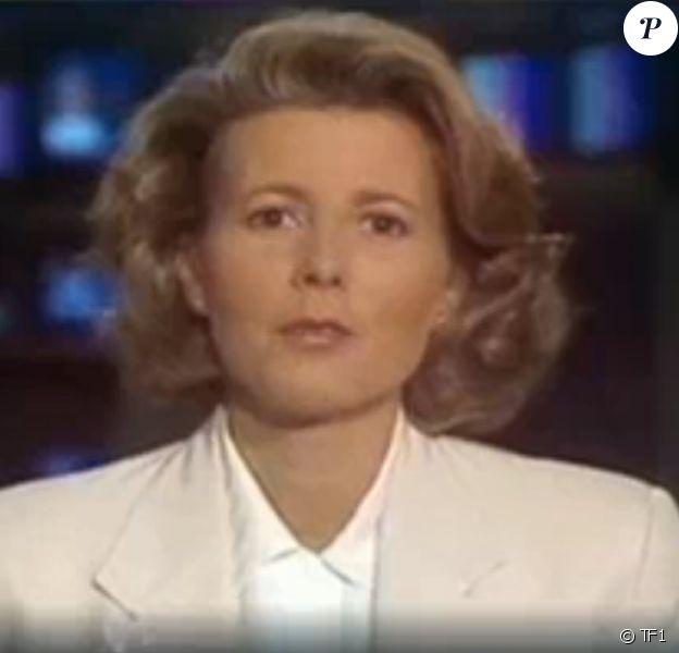Claire Chazal lors son tout premier JT sur TF1 en 1991.