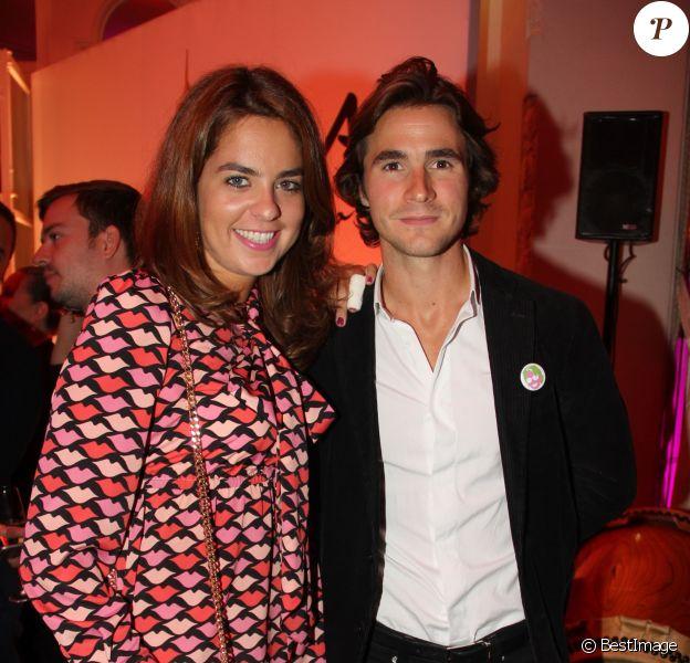 Anouchka Delon et son compagnon Julien Dereims - Soirée des 50 ans de la vie parisienne de Kenzo Takada au Pré Catelan à Boulogne le 17 septembre 2015.