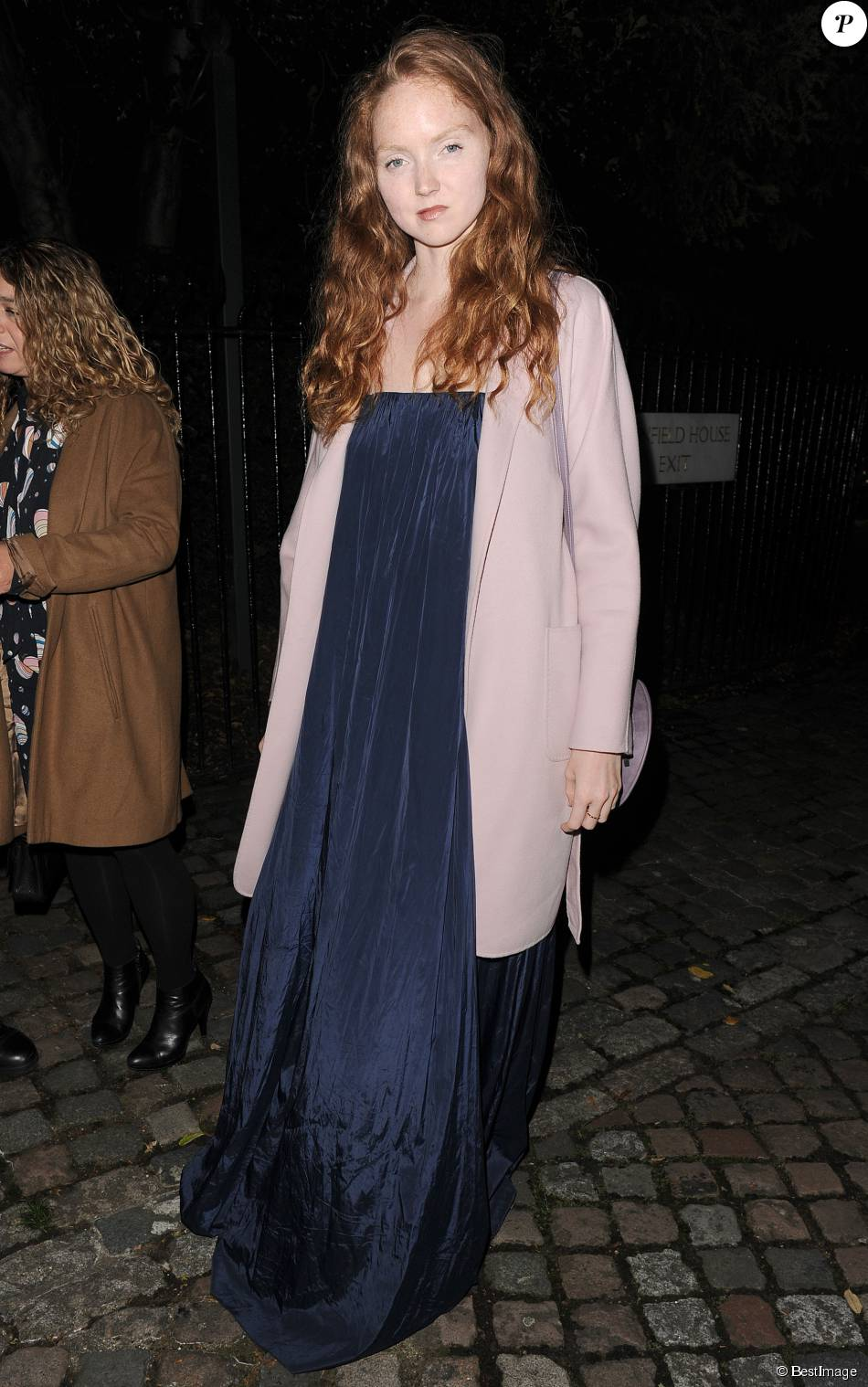 Lily Cole à la soirée US Ambassador en association avec le magasine Vogue lors de la Fashion Week de Londres, le 18 septembre 2015.