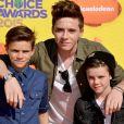 Brooklyn Beckham, Romeo Beckham et Cruz Beckham lors des Kids' Choice Awards au Forum d'Inglewood, le 28 mars 2015