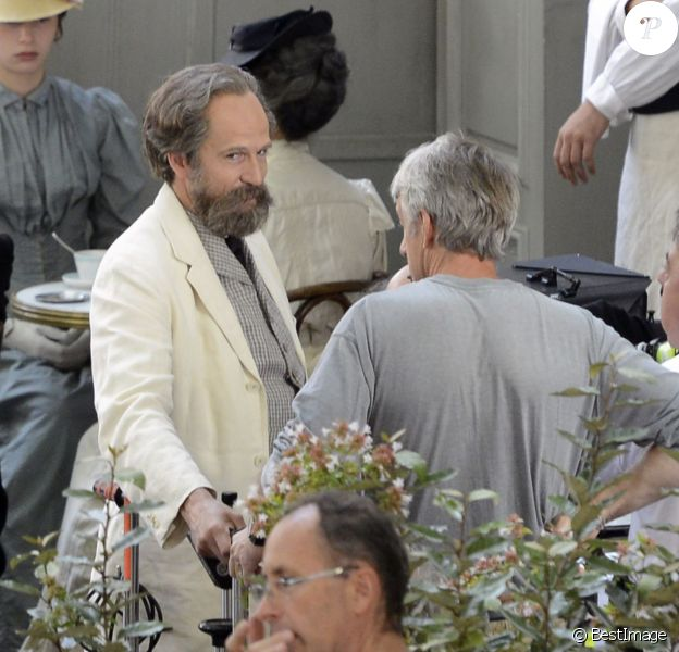 """Exclusif - Tournage à Aix-en-Provence le 10 septembre du film """"Cézanne et moi"""" de Danièle Thompson, avec Guillaume Canet dans le rôle de l'écrivain Emile Zola et Guillaume Gallienne dans celui du peintre aixois Paul Cézanne."""