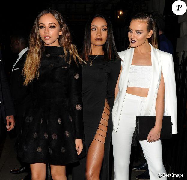 Le groupe Little Mix Jade Thirlwall, Leigh Anne Pinnock et Perrie Edwards à la soirée VIP Selena Gomez au club privé Annabel à Mayfair à Londres, le 24 septembre 2015