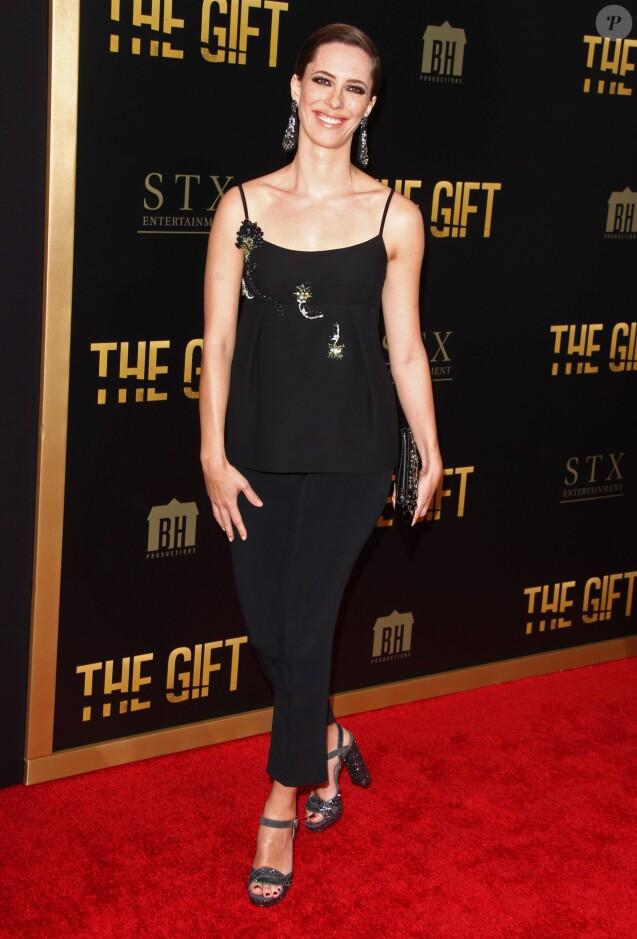"""Rebecca Hall lors de l'avant-première du film """"The Gift"""" aux Regal Cinemas à Los Angeles, le 30 juillet 2015."""