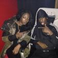 Bushy et son ami le rappeur Laa Grenaade / photo postée sur Twitter