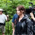 Jennifer Lawrence sur le tournage d'Hunger Games (2012)
