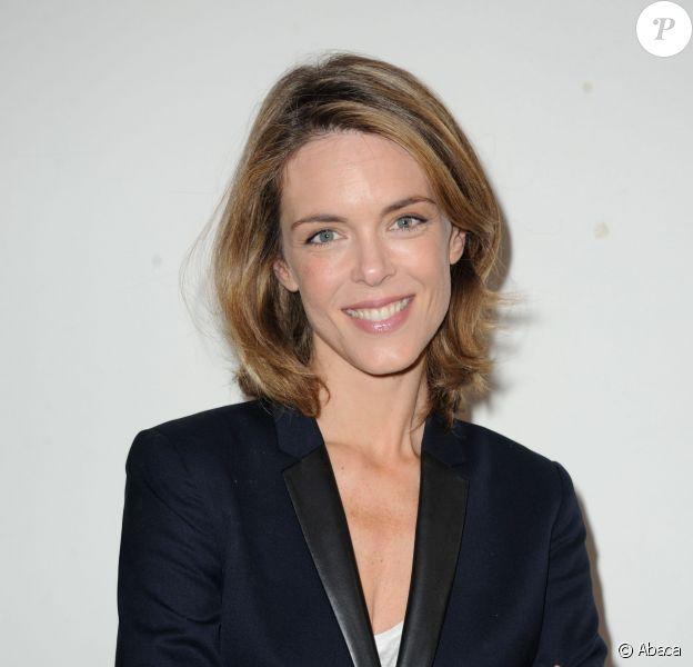 Julie Andrieu, à La Cour du Marais à Paris, le 7 juillet 2014.