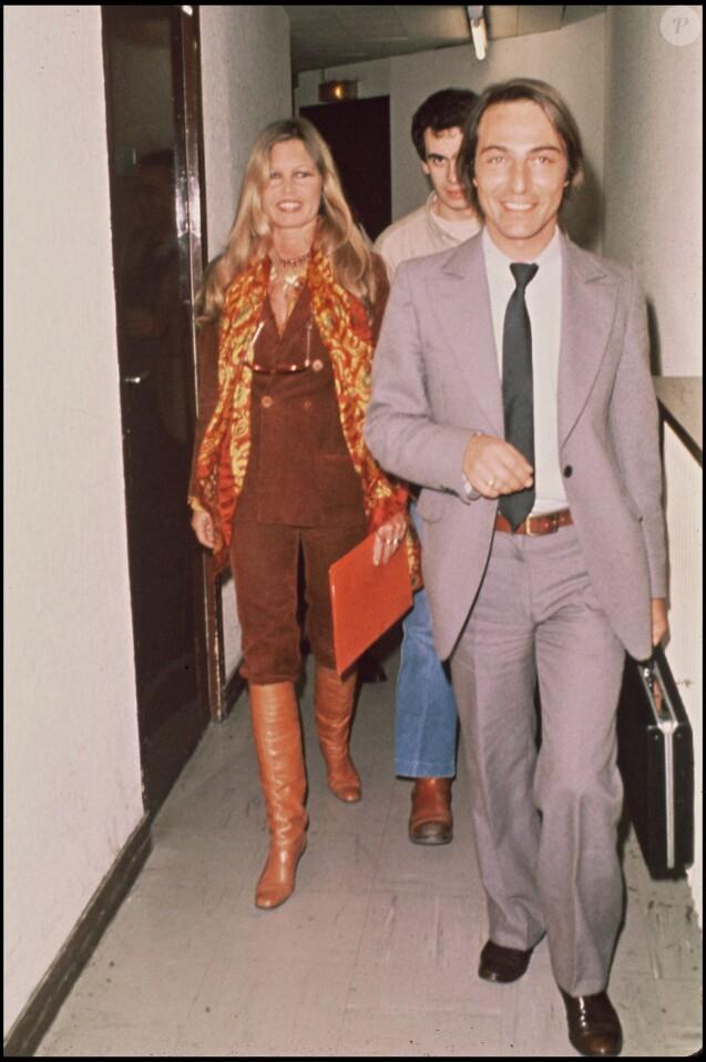 Brigitte Bardot et Allain Bougrain-Dubourg en avril 1981 à Paris.