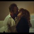 """Mylène Farmer et Sting sur le tournage du clip """"Stolen Car"""" à Paris en septembre 2015."""