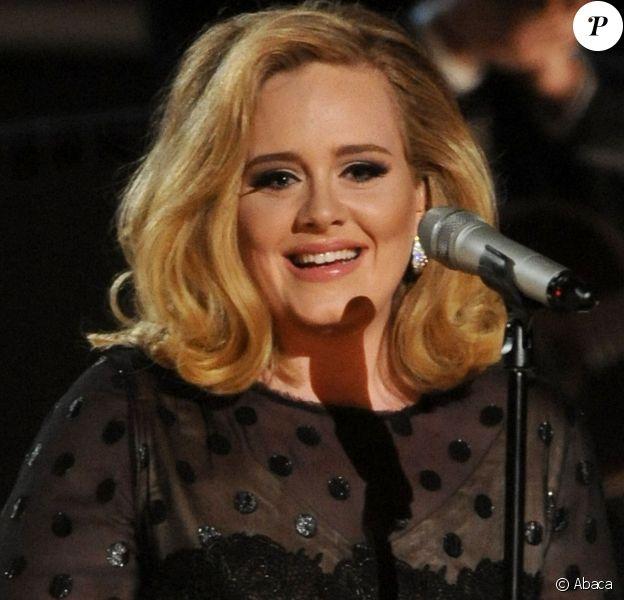 Adele au Grammy Awards, à Los Angeles le 13 février 2012.