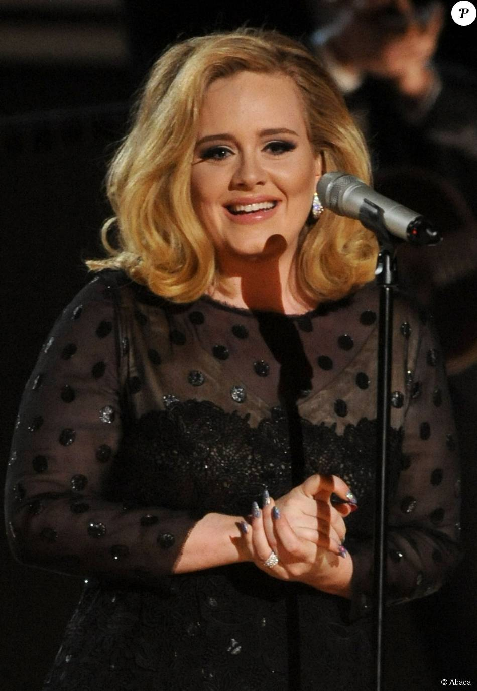 Adele au Grammy Awards, à Los Angeles le 13 février 2012.
