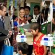 La princesse Victoria, enceinte, et le prince Daniel de Suède en visite officielle au Pérou, à Lima, le 21 octobre 2015