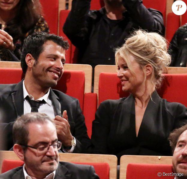 Exclusif - Virginie Efira toujours très proche de Mabrouk El Mechri lors de la remise du prix Lumière à Martin Scorsese au festival Lumière 2015 à Lyon le 16 octobre 2015.