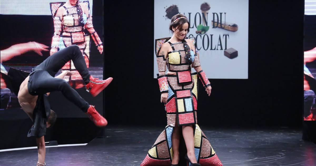 Aliz e et son compagnon gr goire lyonnet ici acrobate for Porte de versailles salon 2015