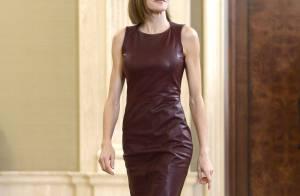 Letizia d'Espagne : Moulée en cuir dans sa robe Boss avant un samedi spécial...