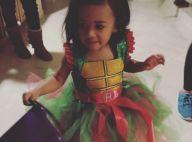 Chris Brown : Sa fille Royalty en Tortue Ninja, lui en loup garou pour Halloween