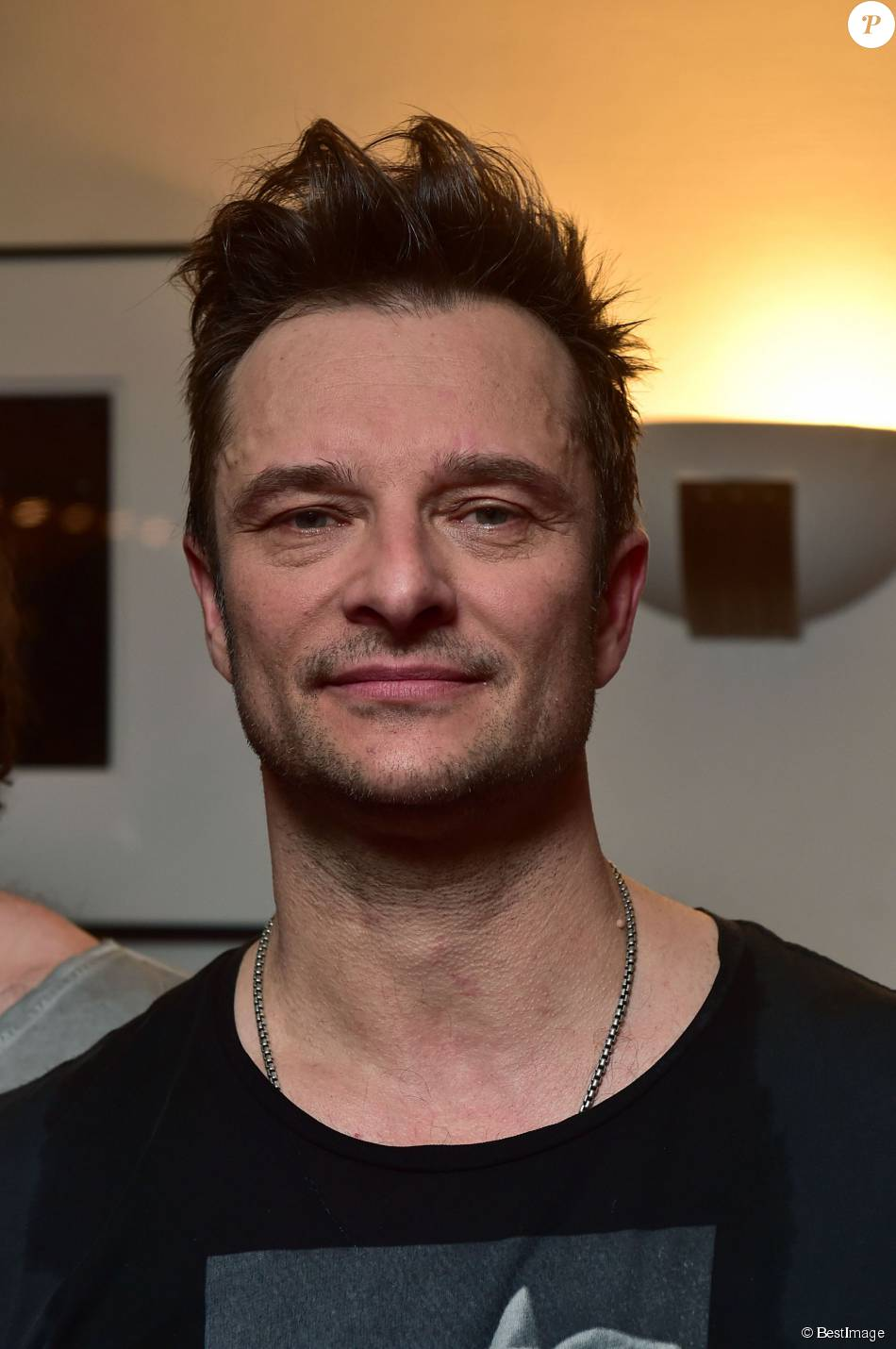 "David Hallyday et son groupe ""Mission Control"" en showcase au Théâtre ""Le Comedia"" à Paris, le 12 janvier 2015.12/01/2015 - Paris"