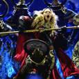 """Madonna sur scène à Prague pour le """"Rebel Heart Tour"""", le 7 novembre 2015."""