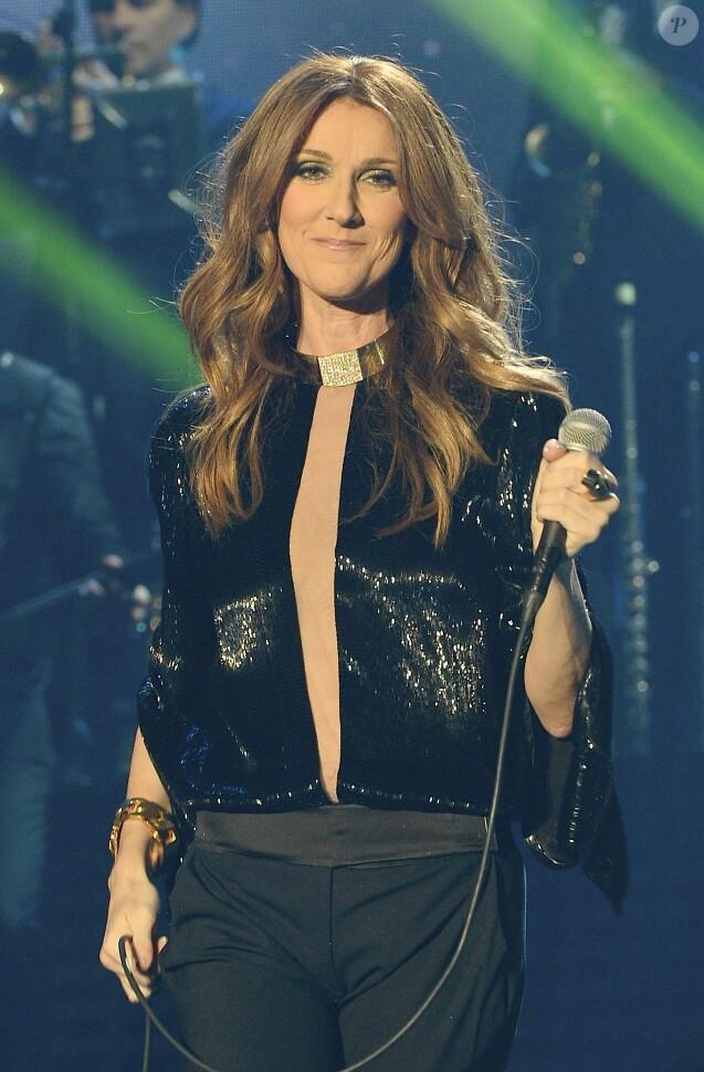 Céline Dion en concert au Palais Omnisports de Paris-Bercy, le 1er décembre 2013.