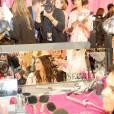 Kendall Jenner dans les coulisses du défilé Victoria's Secret à New York, le 10 novembre 2015