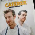 Jonray Sanchez-Iglesias, talentueux chef du restaurant étoilé Casamia à Bristol, est mort le 6 novembre 2015 à 32 ans après un long combat contre un cancer de la peau. Capture d'écran Twitter : post sur le numéro de The Caterer qui leur était consacré, à son frère Peter et lui.